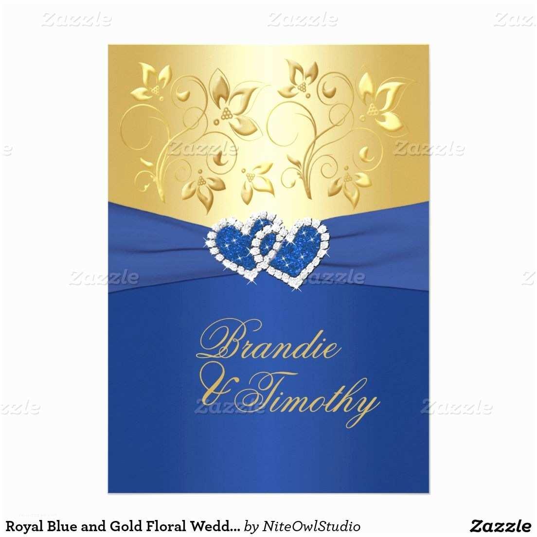 Royal Blue Wedding S Royal Blue And Gold Floral Wedding