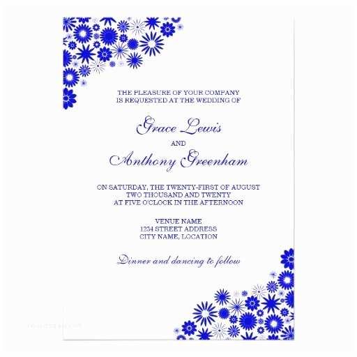 Royal Blue Wedding Invitations Royal Blue Invitation