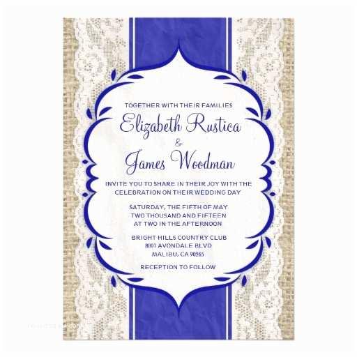 Royal Blue Wedding S Royal Blue Vintage Linen Burlap Wedding