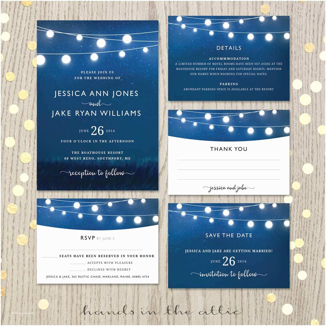 Royal Blue Wedding Invitations Royal Blue Wedding Invitation