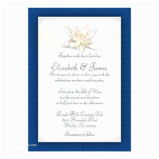 Royal Blue Wedding Invitations Royal Blue Wedding Invitations Custom