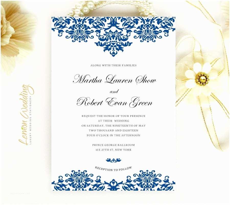 Royal Blue Wedding Invitations Royal Blue Wedding Invitations Lemonwedding