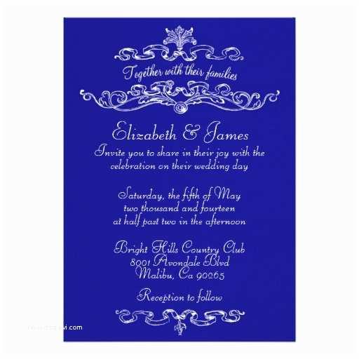 Royal Blue Wedding  Simple Luxury Royal Blue Wedding