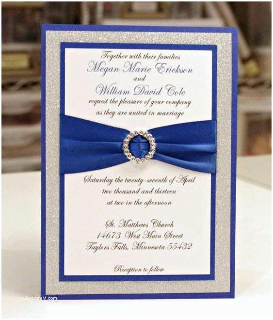 Royal Blue Wedding Invitations Stunning Royal Blue & Silver Glitter Wedding