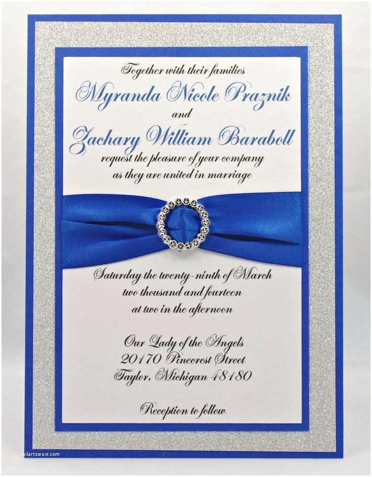 Royal Blue Wedding S Stunning Royal Blue & Silver Glitter Wedding