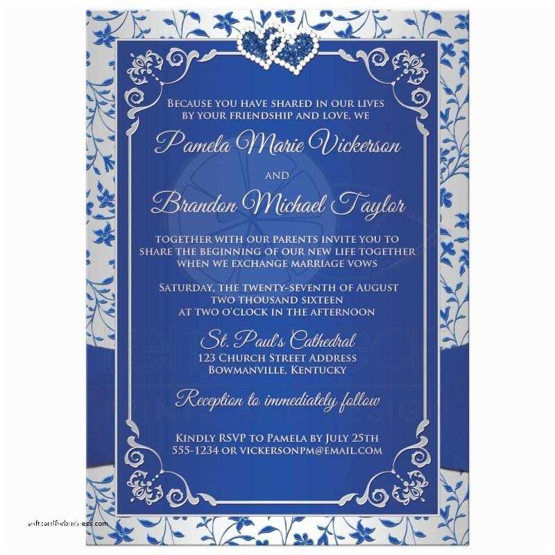 Royal Blue  Invitations  Invitation Unique Royal Blue And Silver