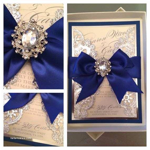 Royal Blue Wedding Invitations Wedding Invitations Royal Blue and Silver by