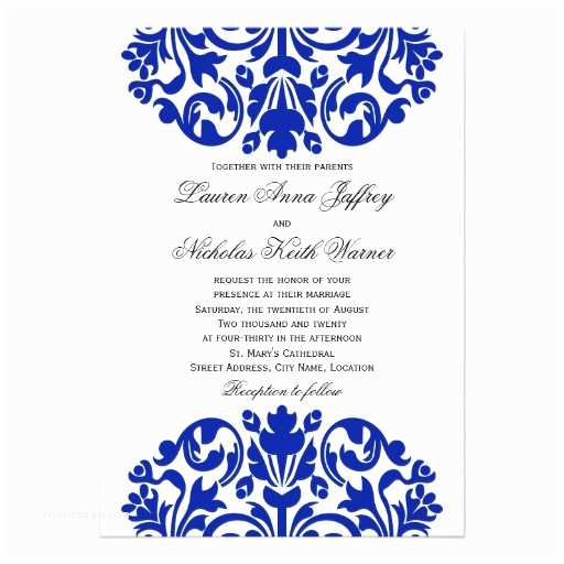 Royal Blue Wedding Invitations Wedding Invitations Royal Blue and White Yaseen for