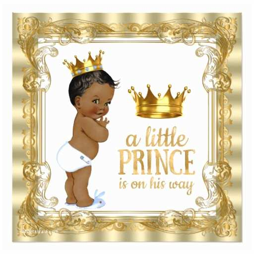 Royal Prince Baby Shower Invitations Blue Gold Royal Prince Baby Shower Invitation