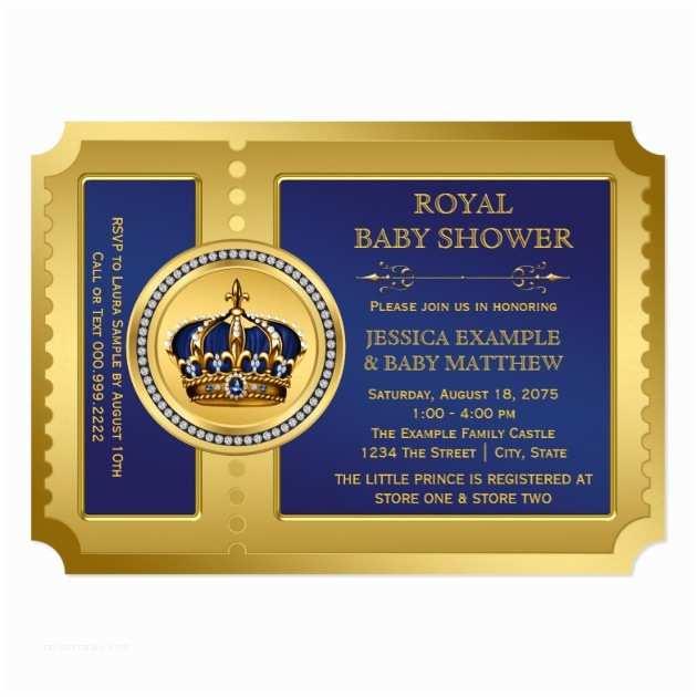 Royal Prince Baby Shower Invitations Custom Royal Baby Shower Invites Templates