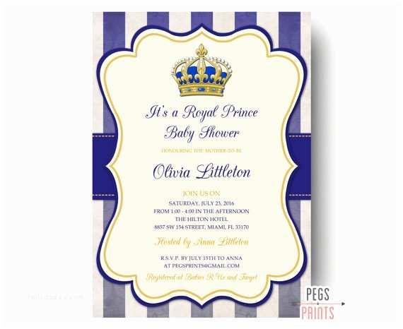Royal Prince Baby Shower Invitations Royal Prince Baby Shower Invitations Printable Prince