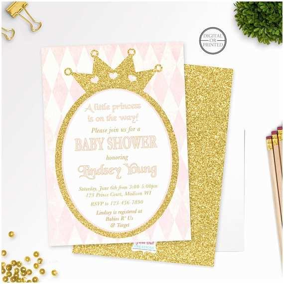 Royal Princess Baby Shower Invitations Princess Baby Shower Invitation
