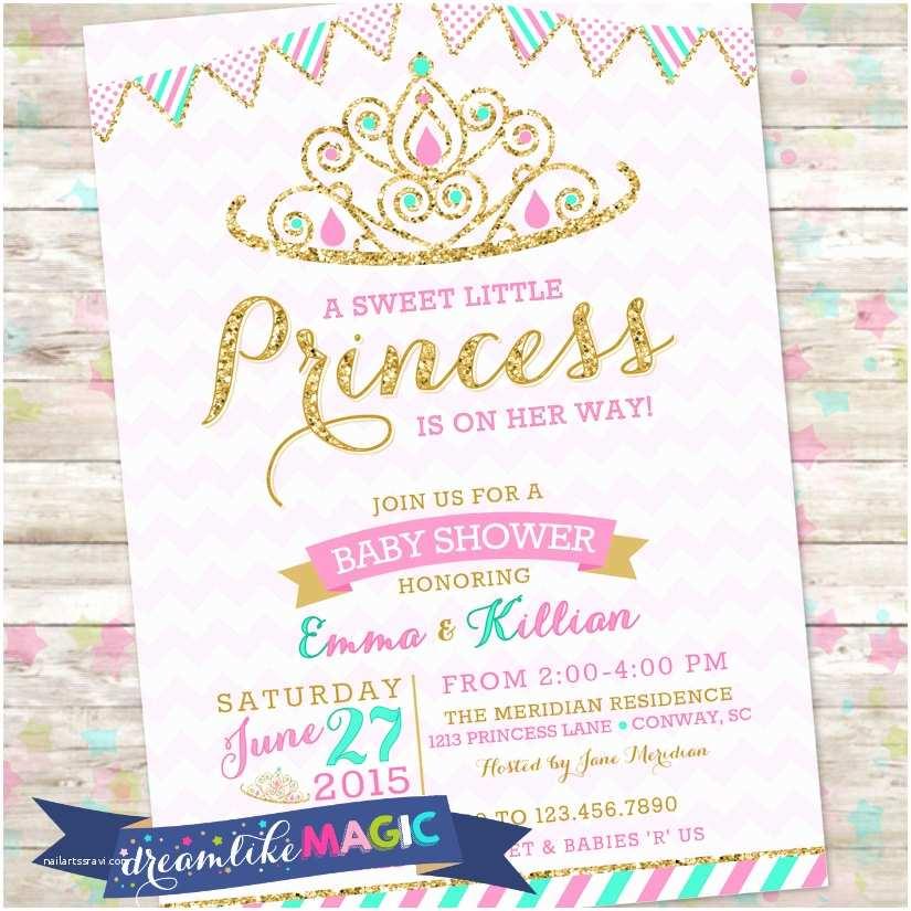 Royal Princess Baby Shower Invitations Princess Baby Shower Invitation Royal Princess Invite Pink