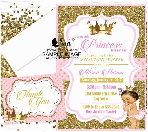Royal Princess Baby Shower Invitations Royal Princess Baby Shower Invitation Little Princess