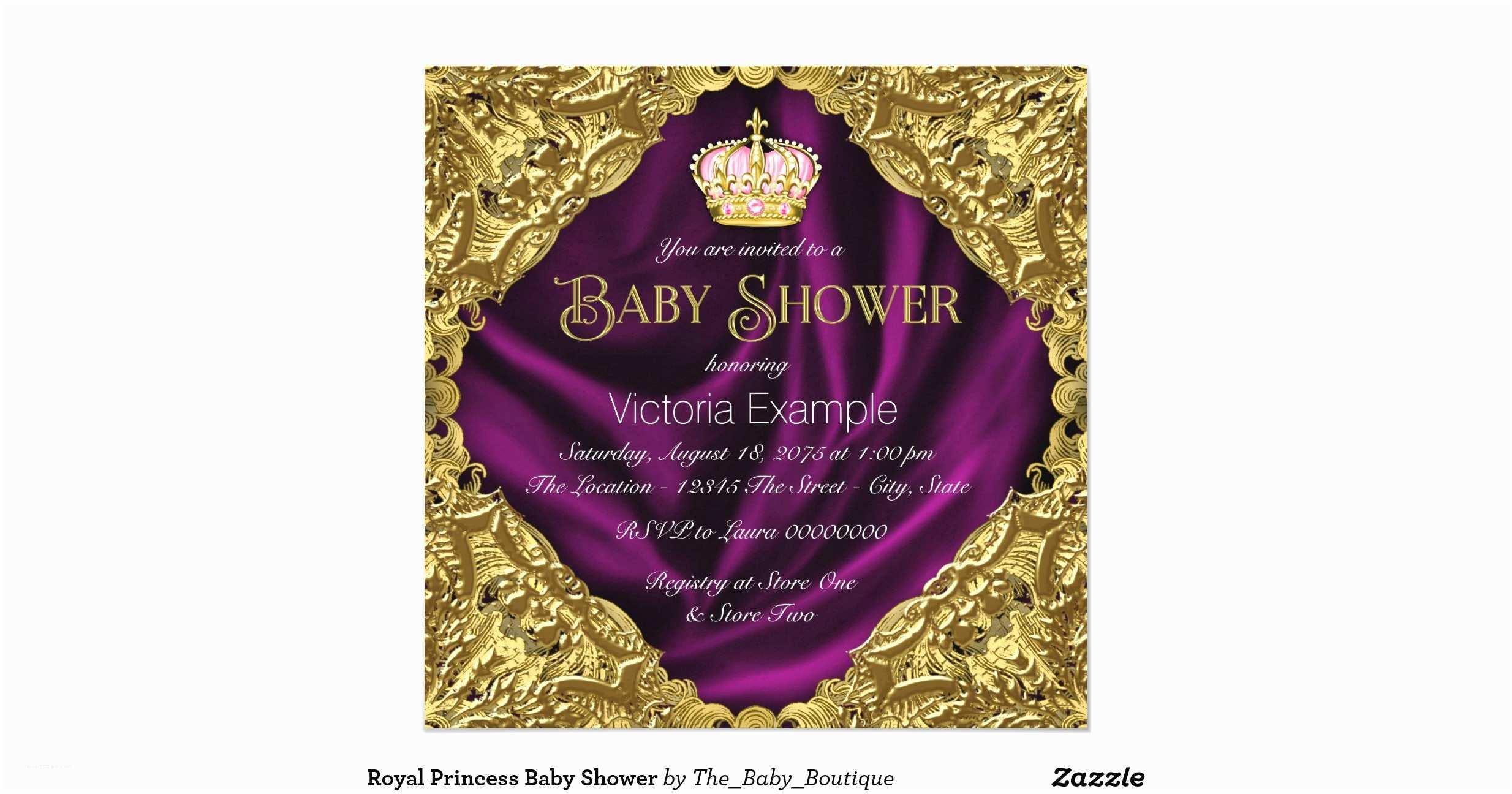 Royal Princess Baby Shower Invitations Royal Princess Baby Shower Invitation