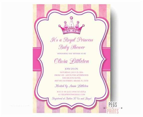 Royal Princess Baby Shower Invitations Royal Princess Baby Shower Invitation Printable