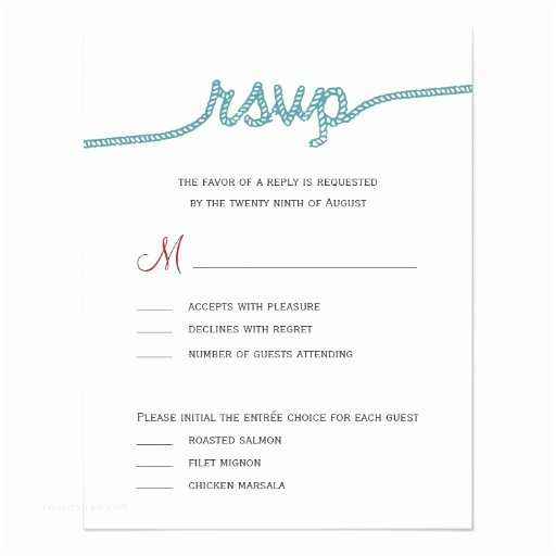 tying the knot wedding rsvp cards invitation card