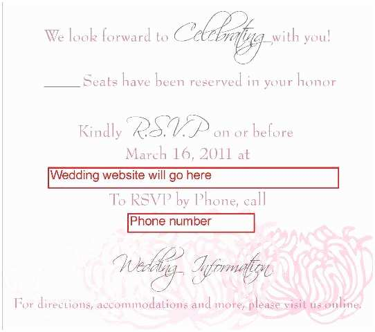 Rsvp Wedding Invitation Wording New Line Rsvp – What Do You Think Of the Wording – Part