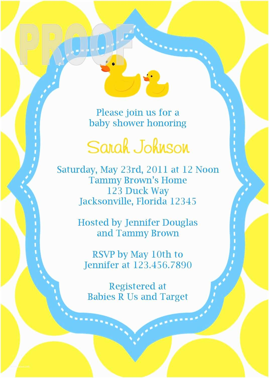 Rubber Duck Baby Shower Invitations Adorable Rubber Ducky Custom Baby Shower Invitation