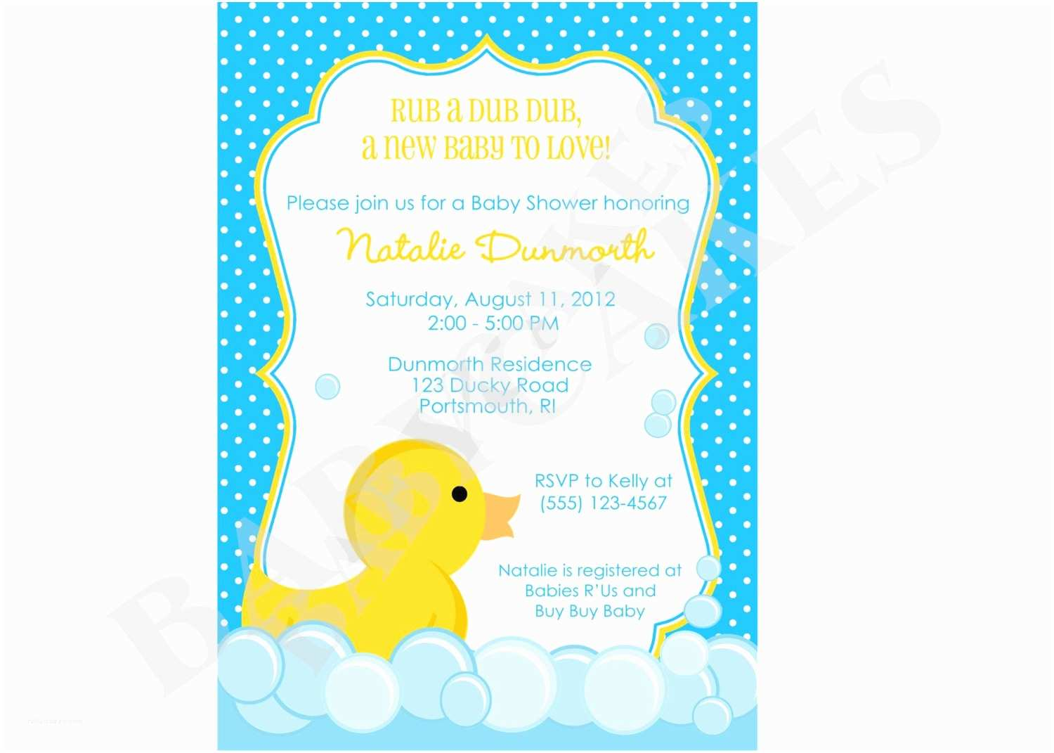 Rubber Duck Baby Shower Invitations Free Rubber Ducky Baby Shower Invitations Template