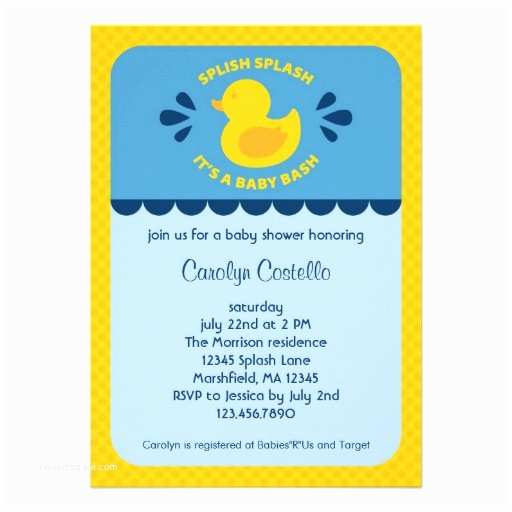 Rubber Duck Baby Shower Invitations Personalized Rubber Duck Invitations
