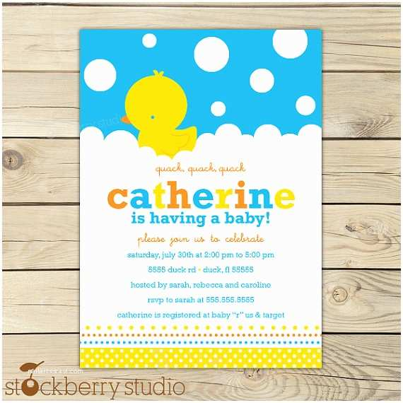 Rubber Duck Baby Shower Invitations Rubber Duckie Baby Shower Invitations Rubber Ducky Baby
