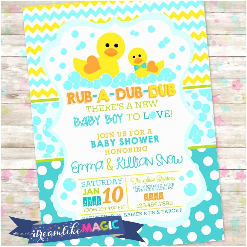 Rubber Ducky Baby Shower Invitations Baby Shower Invitations Rubber Ducky Party Xyz