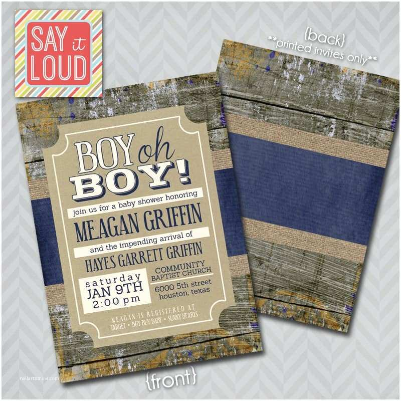 Rustic Baby Shower Invitations 25 Rustic Baby Shower Ideas