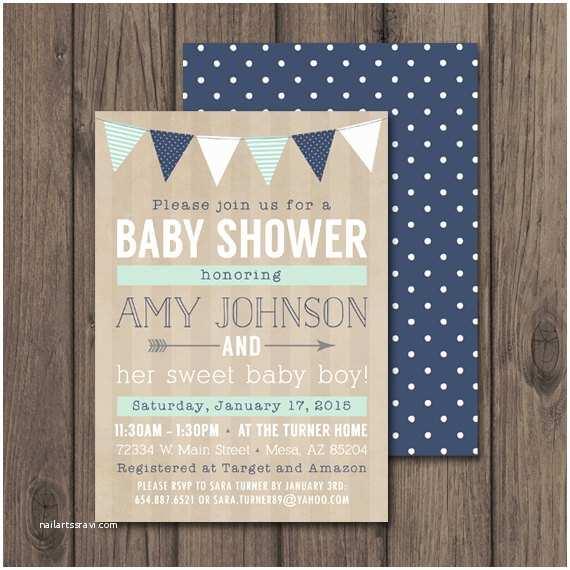 Rustic Baby Shower Invitations Baby Boy Shower Invitation Rustic Baby Shower Invitations