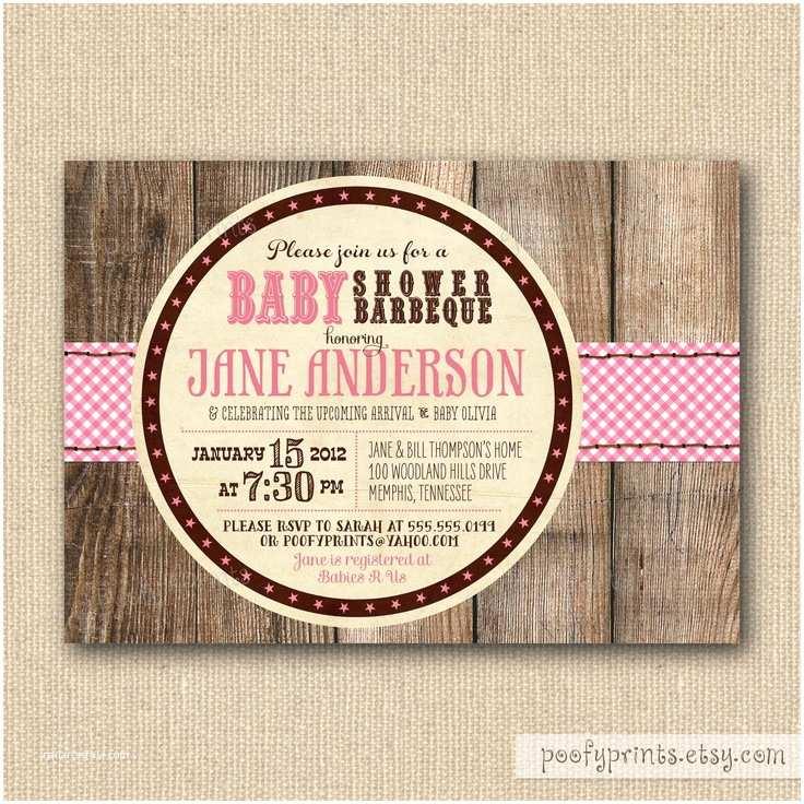 Rustic Baby Shower Invitations Bbq Baby Shower Invitations Rustic Baby Girl Shower