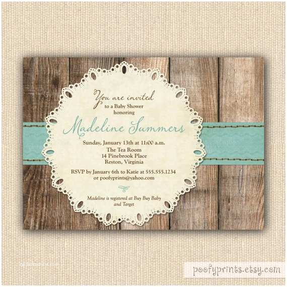 Rustic Baby Shower Invitations Rustic Baby Boy Shower Invitations
