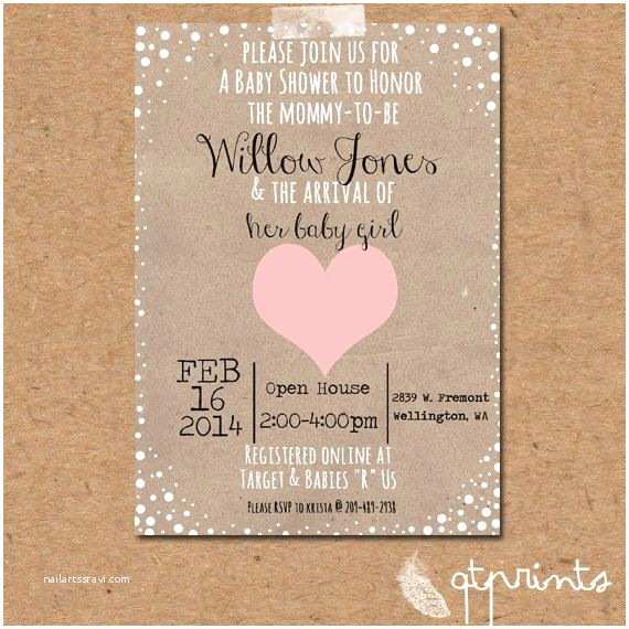 Rustic Baby Shower Invitations Valentines Baby Girl or Boy Shower Invitation Rustic Printable