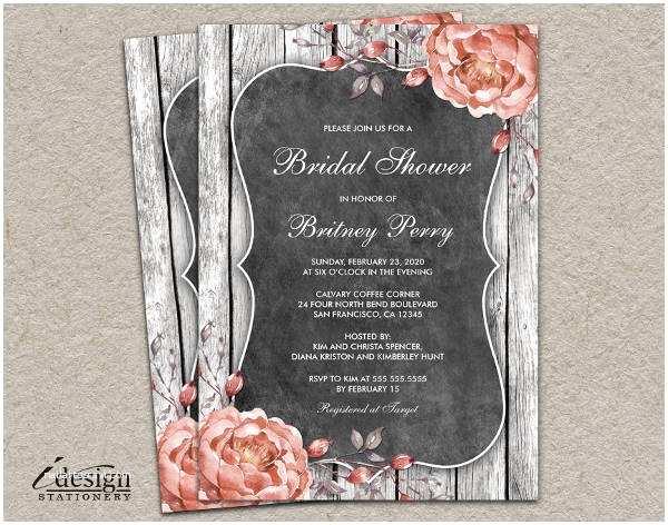Rustic Bridal Shower Invitations 40 Bridal Shower Invitation Examples