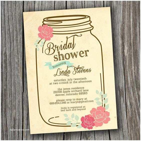 Rustic Bridal Shower Invitations Bridal Shower Invitation Printable Custom Diy Wedding