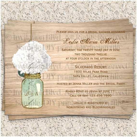 Rustic Bridal Shower Invitations Bridal Shower Invitation Rustic Bridal Shower by