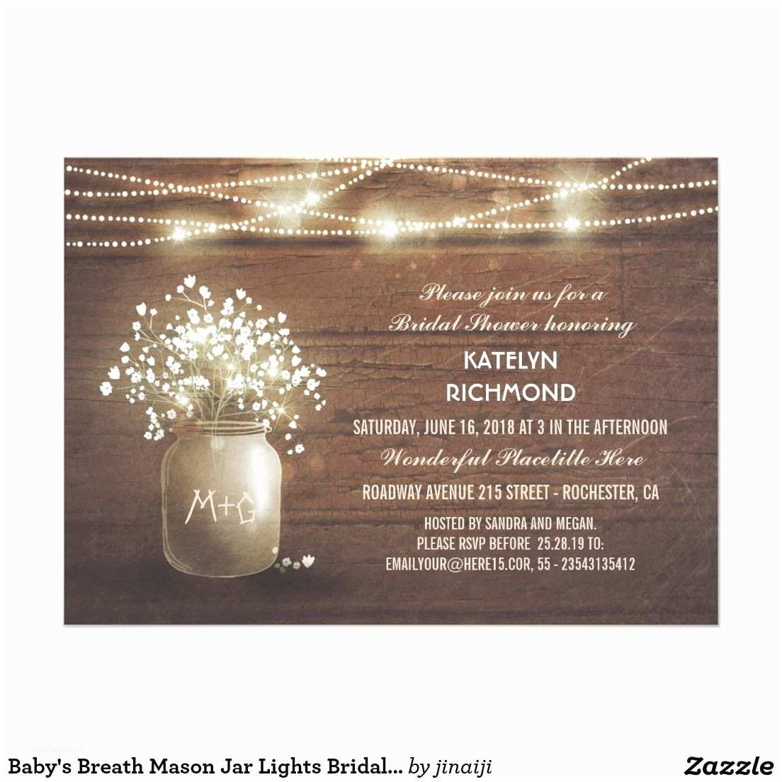 Rustic Bridal Shower Invitations Lovely Bridal Shower Invitation Features Bright String