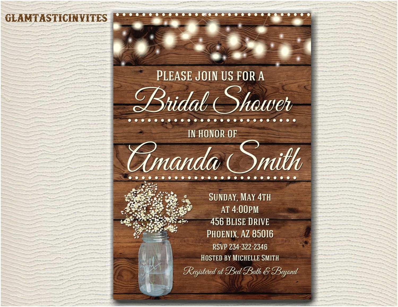 rustic bridal shower invitation rustic