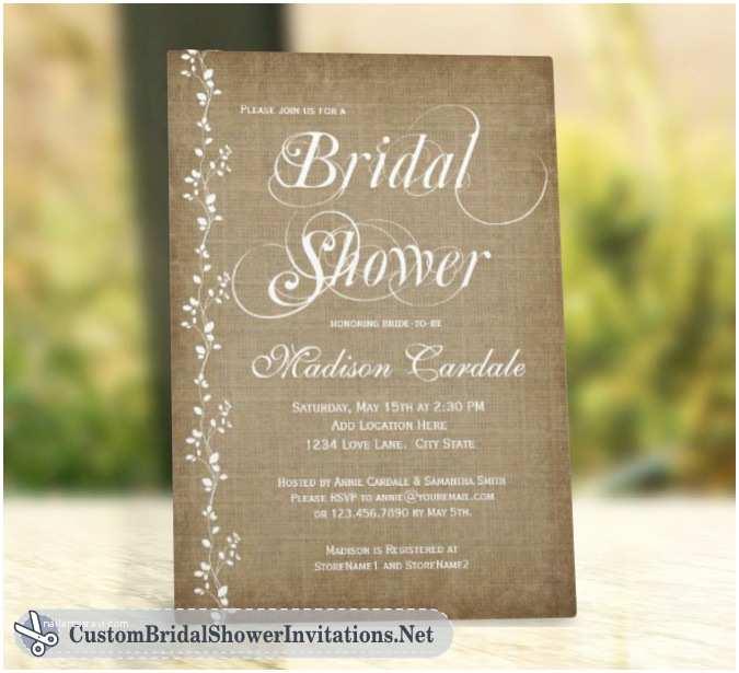 Rustic Bridal Shower Invitations Wedding Invitation Templates Rustic Wedding Shower