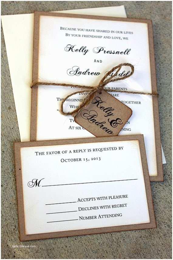 Rustic Chic Wedding Invitations 20 Rustic Wedding Invitations Ideas