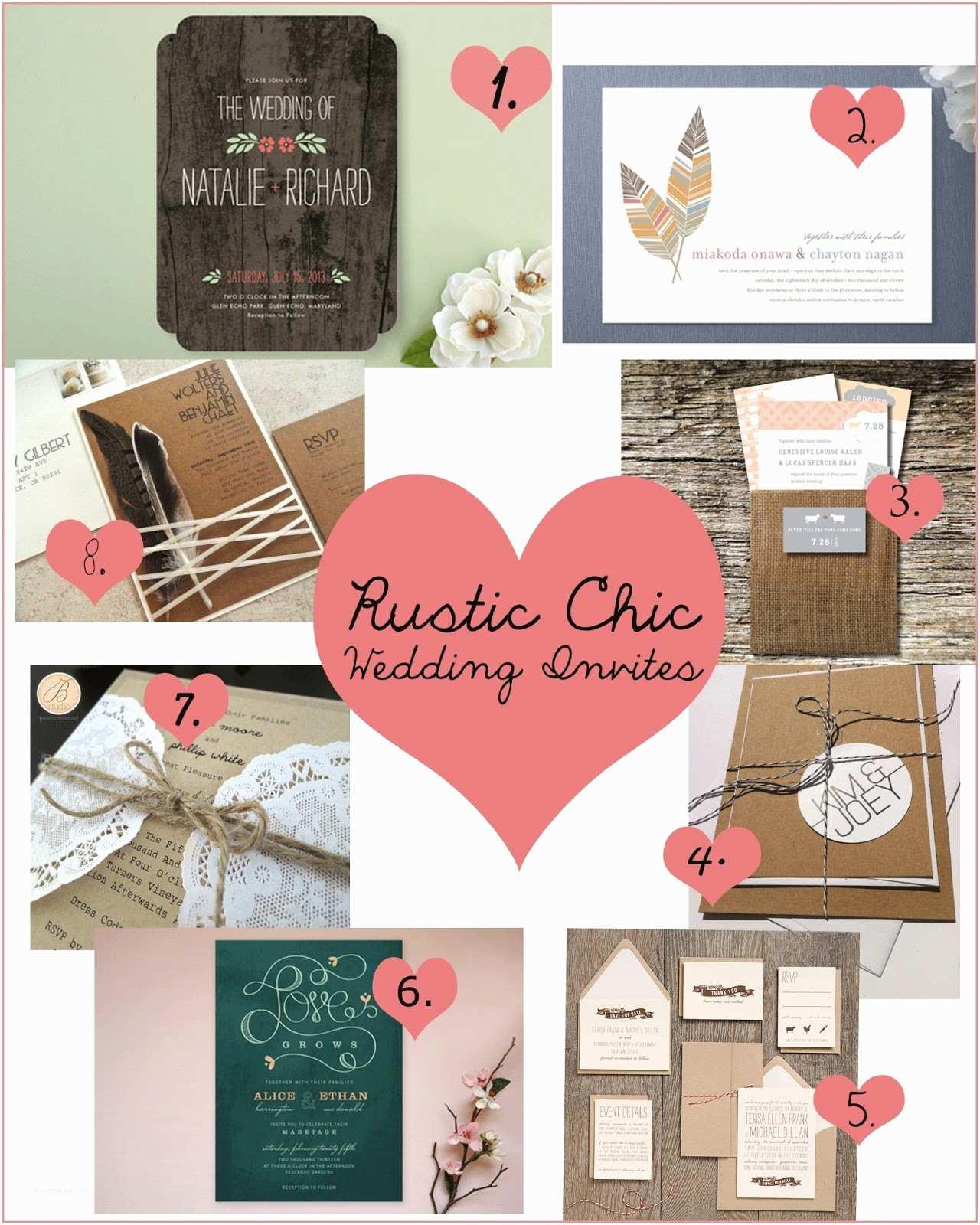 Rustic Chic Wedding Invitations ashley Thunder events Rustic Chic Wedding Invitation