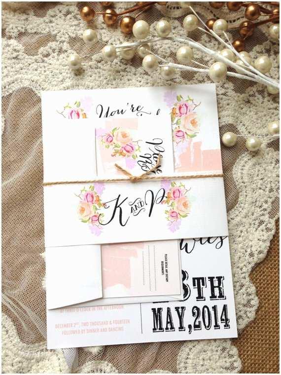 Rustic Chic Wedding Invitations Items Similar To Rustic Wedding Invitation Suite