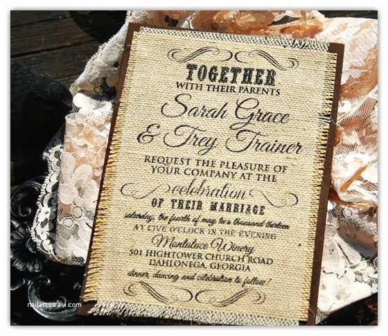 Rustic Chic Wedding  Top 10 Burlap Wedding