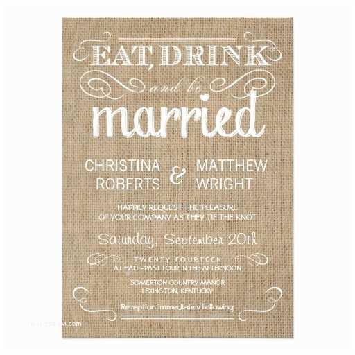 Rustic Country Wedding Invitations Burlap Rustic Country Wedding Invitations