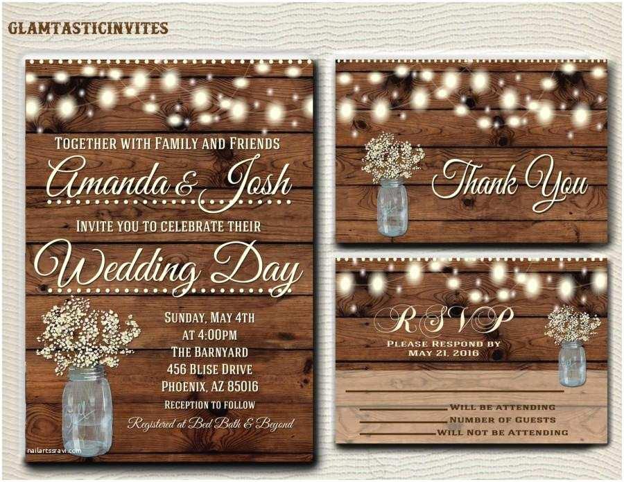 Rustic Country Wedding Invitations Rustic Wedding Invitation Printable Country Wedding