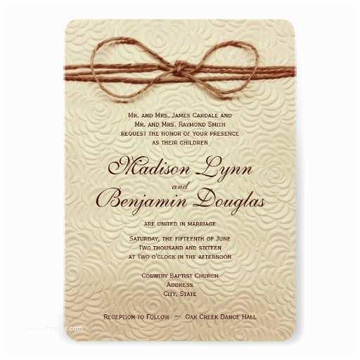 Rustic Country Wedding Invitations Vintage Rustic Country Wedding Invitations