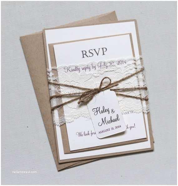 Rustic Elegant Wedding Invitations Items Similar to Rustic Lace Wedding Invitation Elegant