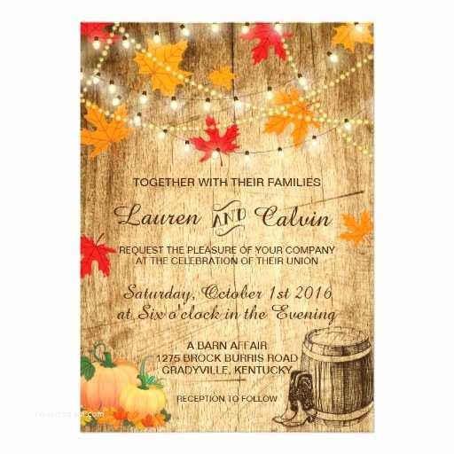 Rustic Fall  Invitations Fall  Invitation For A Rustic