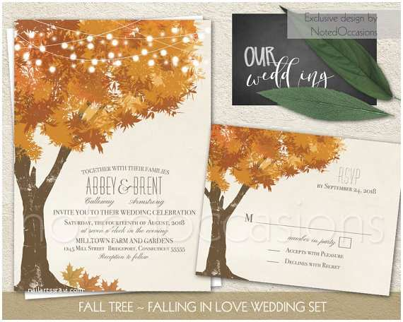 Rustic Fall Wedding Invitations Rustic Fall Wedding Invitations Kit Autumn Oak by