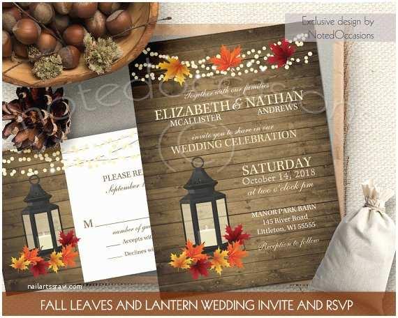 Rustic Fall Wedding Invitations Rustic Fall Wedding Invitations Set Metal By