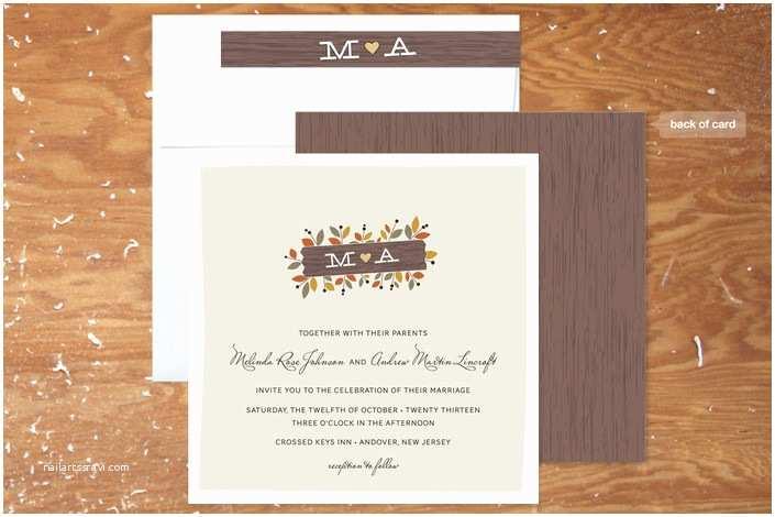 Fall Wedding Invitations  Wedding Invitations For A Fall Wedding